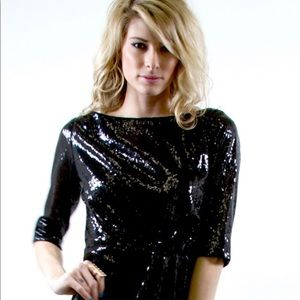Literature Noir sequin dress size medium